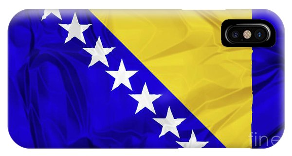 Flag Of Bosnia IPhone Case