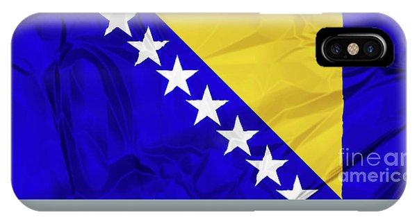 Flag Of Bosnia IPhone Case
