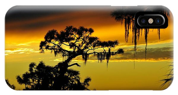 Weathered iPhone Case - Central Florida Sunset by David Lee Thompson