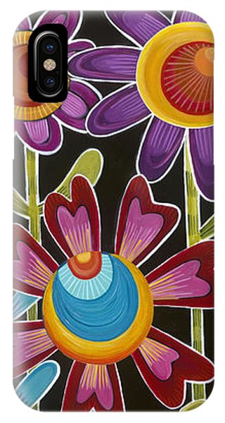 IPhone Case featuring the painting Flower Power by Carla Bank