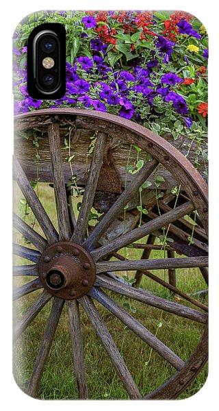 Wagon Wheel iPhone Case - Flower Wagon by Edward Fielding