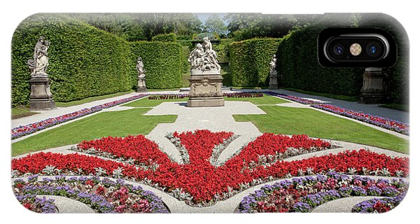 Flowerbeds And Sculptures In Eastern Parterre IPhone Case