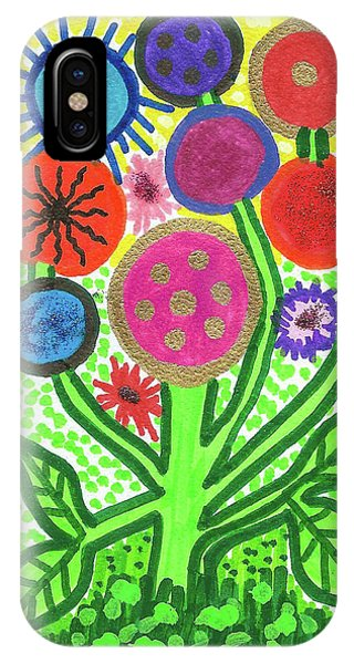 Flowers In The Round 9.7 IPhone Case