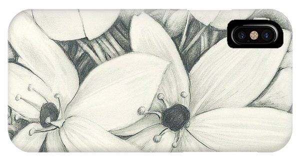 Flowers Pencil IPhone Case