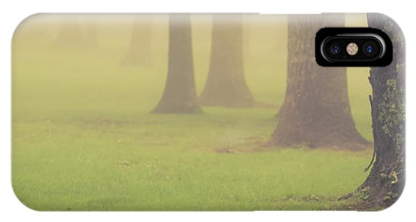 IPhone Case featuring the photograph Foggy Trees Pano by Joye Ardyn Durham