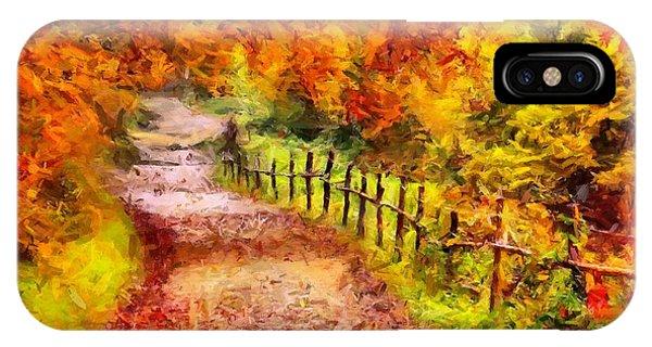Fall Foliage Path 2 IPhone Case