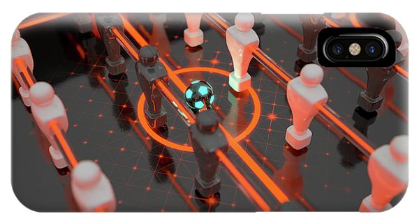 Luminous iPhone Case - Foosball Players by Allan Swart