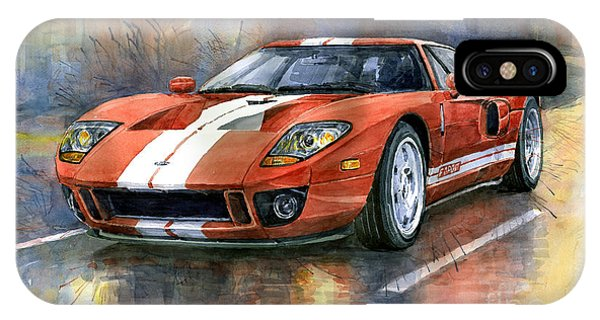 Car iPhone X Case - Ford Gt 40 2006  by Yuriy Shevchuk
