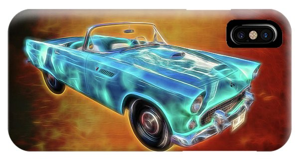Teal iPhone Case - Ford Thunderbird by Adrian Evans