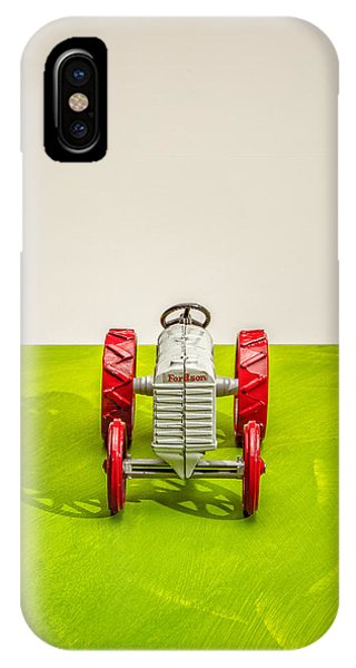 Farm Tool iPhone Case - Fordson Tractor Front by Yo Pedro