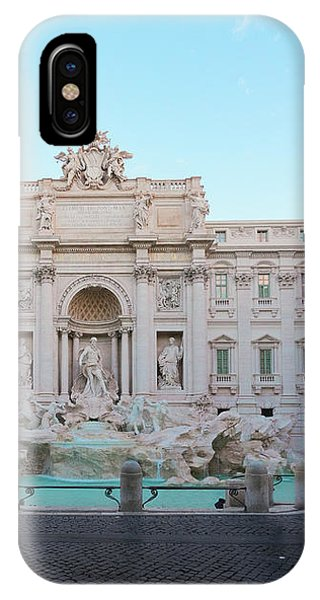 Fountain Di Trevi And Sunrise, Rome IPhone Case