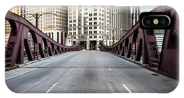 Franklin Orleans Street Bridge Chicago Loop IPhone Case