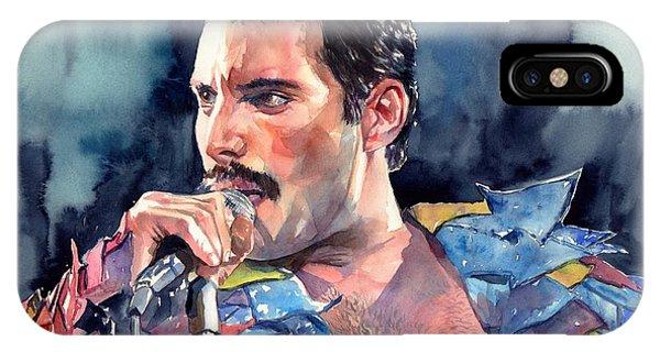 Concert iPhone Case - Freddie Mercury Portrait by Suzann Sines