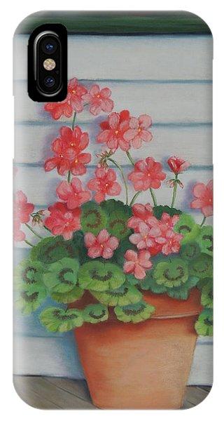 Front Porch Geraniums IPhone Case