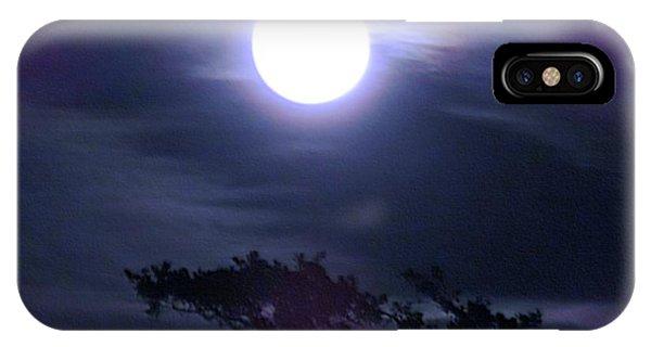 Full Moon Falling IPhone Case