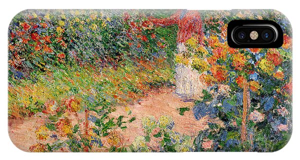 Impressionism iPhone X Case - Garden At Giverny by Claude Monet