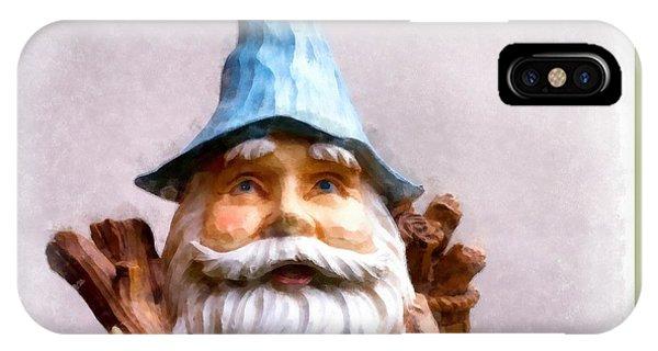Elf iPhone X Case - Garden Gnome by Edward Fielding