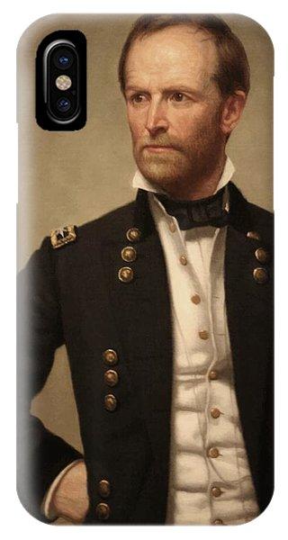 Leader iPhone Case - General William Tecumseh Sherman by War Is Hell Store