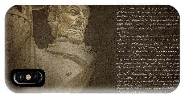 Lincoln Memorial iPhone Case - Gettysburg Address by Diane Diederich