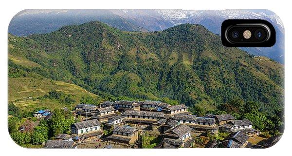 Ghandruk Village In The Annapurna Region IPhone Case