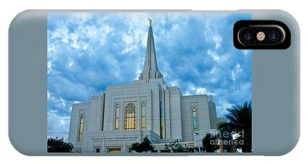 Gilbert Arizona Lds Temple IPhone Case