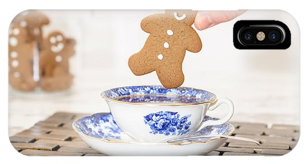 Saucer iPhone Case - Gingerbread In Teacup by Amanda Elwell