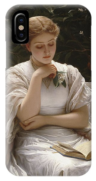 Reading iPhone Case - Girl Reading by Charles Edward Perugini