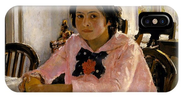 Russian Impressionism iPhone Case - Girl With Peaches by Valentin Serov