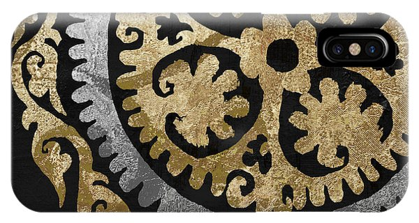 Silver And Gold iPhone Case - Glitterfish Iv by Mindy Sommers