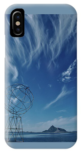Globe Symbol View  On Sky Background In Norway IPhone Case