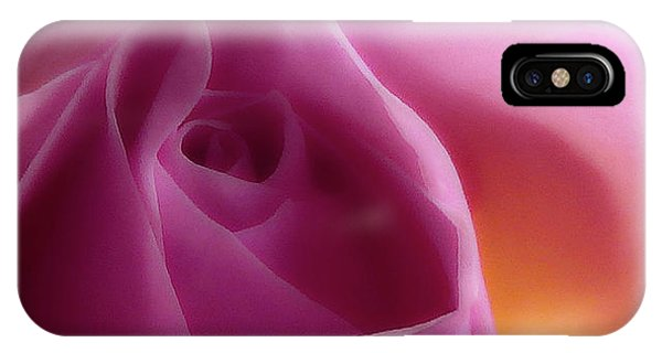 Glowing Pink Rose IPhone Case