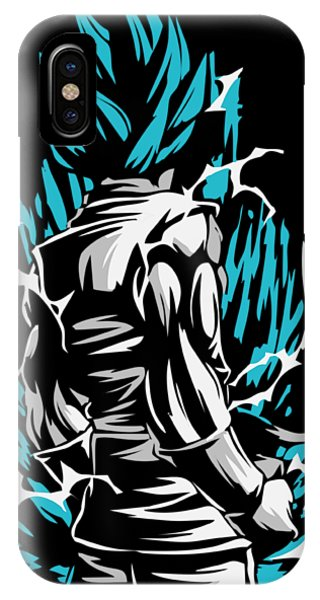 Saiyans iPhone Case - Goku Silluette - Dragon Ball by Aditya Sena
