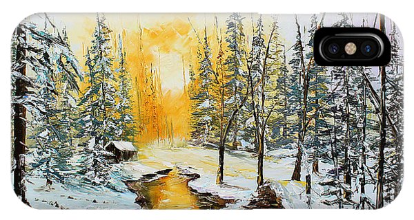IPhone Case featuring the painting Golden Winter by Kevin Brown