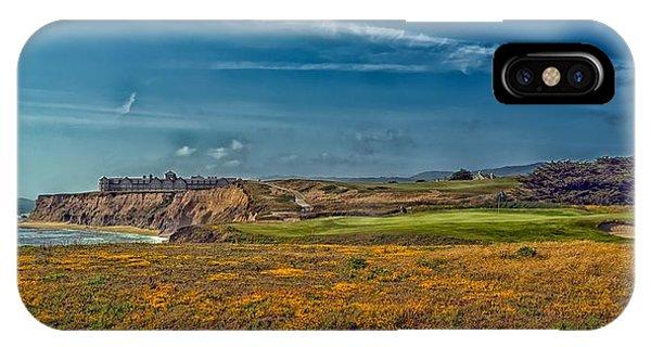 Half Moon Bay iPhone Case - Golfing On Half Moon Bay by Mountain Dreams
