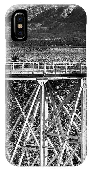 Gorge Bridge Black And White IPhone Case