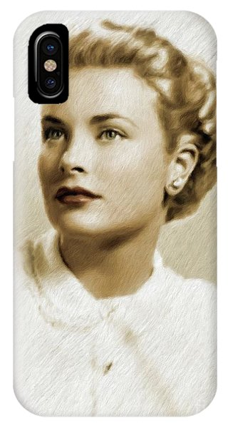Grace Kelly iPhone Case - Grace Kelly, Vintage Actress by Mary Bassett