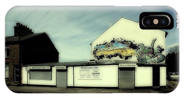 Aerosol iPhone Case - Graffiti Cafe by Nigel Bangert