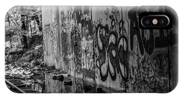 Graffitti And Train Tracks IPhone Case