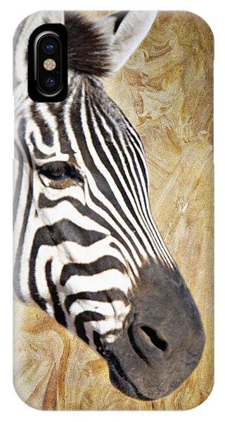 Grant's Zebra_a1 IPhone Case