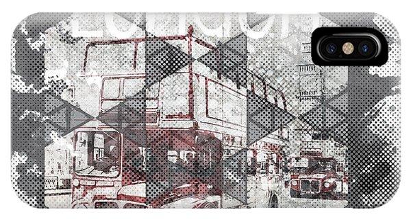 Greater London iPhone Case - Graphic Art London Streetscene by Melanie Viola