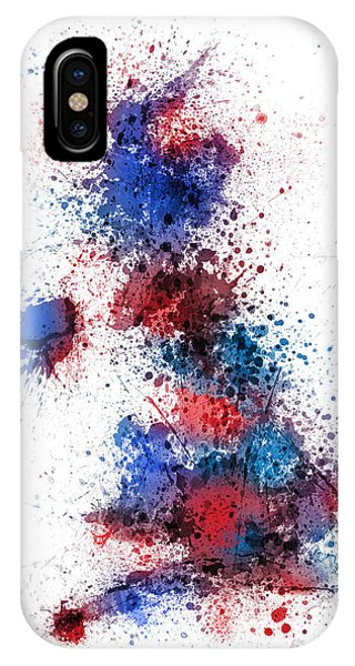 Great Britain Uk Map Paint Splashes IPhone Case