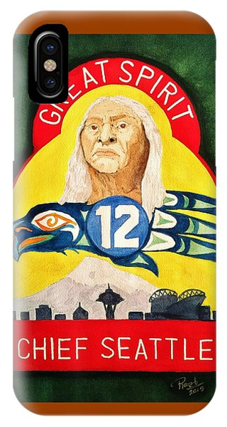 Great Spirit Seattle 12s IPhone Case