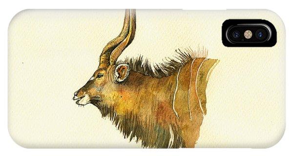 Wild Life iPhone Case - Greater Kudu by Juan  Bosco
