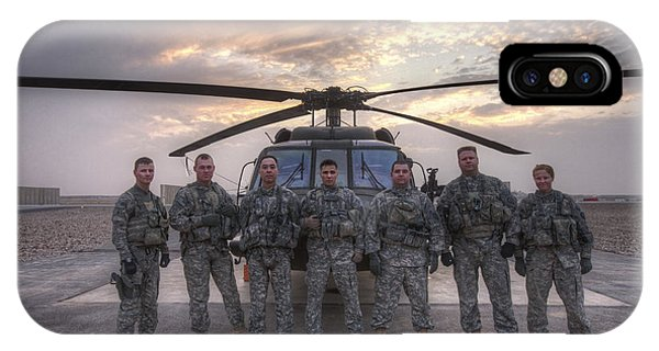 Group Photo Of Uh-60 Black Hawk Pilots IPhone Case