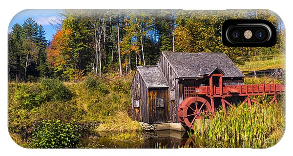 Guildhall Grist Mill In Fall Colors. IPhone Case
