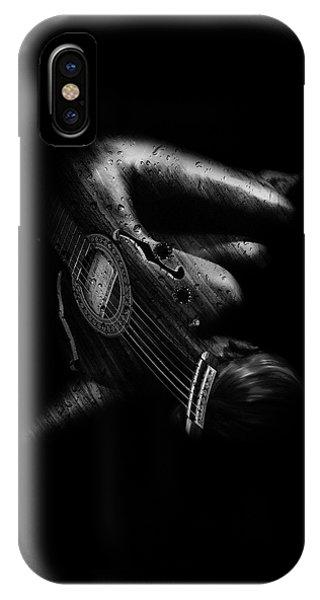 Strange iPhone Case - Guitar Woman by Marian Voicu