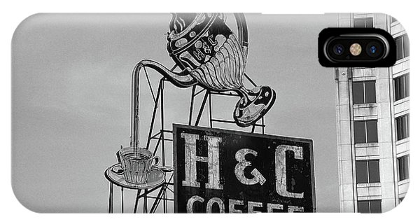 Bean Town iPhone Case - H C Coffee by Frank Romeo
