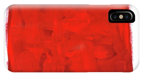 Scarlet Paintbrush iPhone Case - Handmade Vibrant Abstract Oil Painting by GoodMood Art