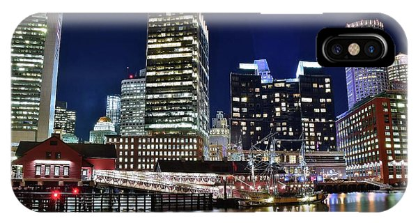 Bean Town iPhone Case - Harbor Lights by Frozen in Time Fine Art Photography