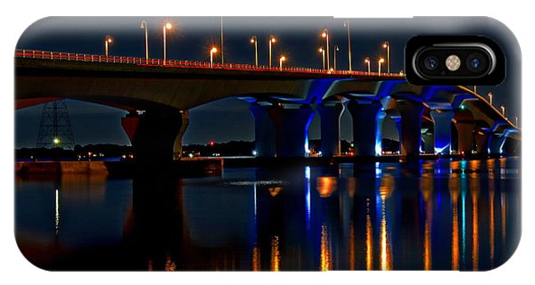 Hathaway Bridge At Night IPhone Case